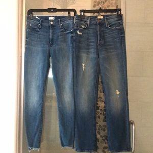 Bundle of mother denim ankle jeans
